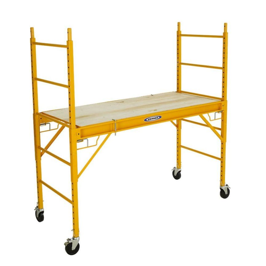 Self Leveling Scaffolding : Manlift material lift scaffolding ladder rentals