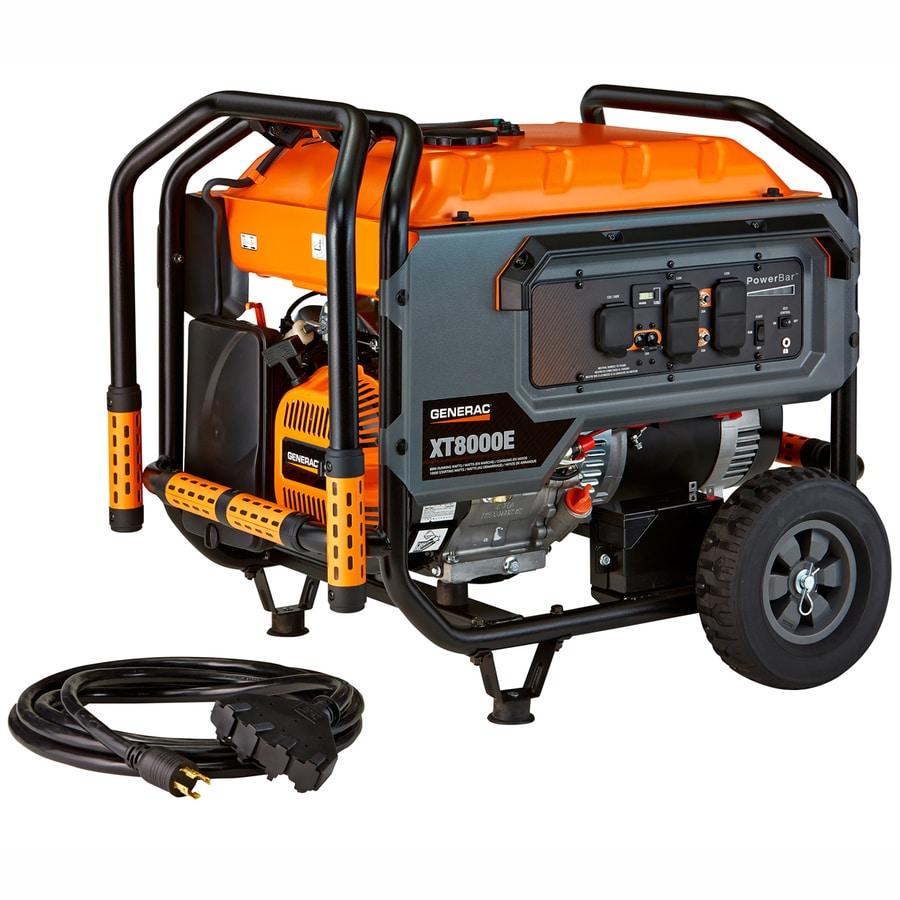 Generac 8000w generator electric start, w/ hd. ext. cord.