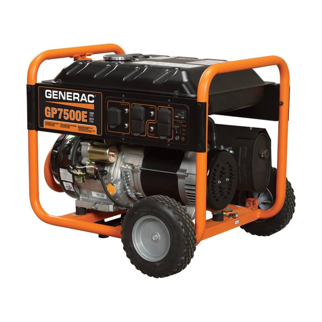 Generac GP7500 watt Generator (electric start) w/ hd. ext. cord