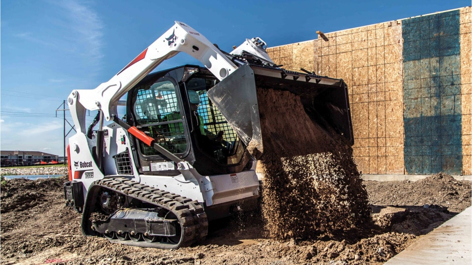 Bobcat T595 Track Skid Steer - Rubber Track with Heat & A/C