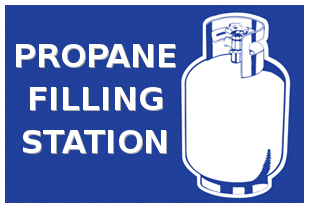 propane filling station clare michigan resource rental center